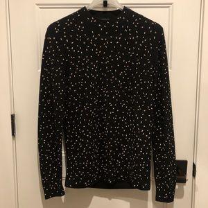 COS Speckled Polka Dot Mock-neck Jumper Sweater